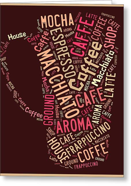 Coffee Greeting Cards - Coffee Menu Collection Greeting Card by Marvin Blaine