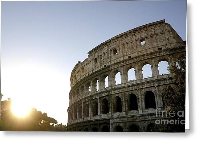 Amphitheater Greeting Cards - Coliseum. Rome Greeting Card by Bernard Jaubert