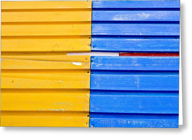 Paste Greeting Cards - Colorful wood Greeting Card by Tom Gowanlock