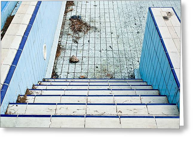 Derelict Swimming Pool Greeting Card by Tom Gowanlock