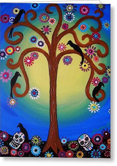 Sementeryo Greeting Cards - Dia De Los Muertos Greeting Card by Pristine Cartera Turkus