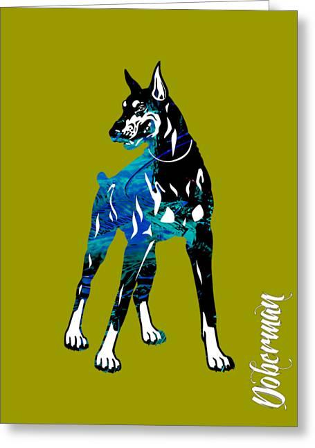 Doberman Pinscher Puppy Greeting Cards - Doberman Pinscher Collection Greeting Card by Marvin Blaine