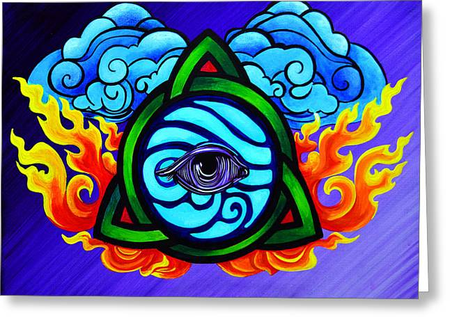 5 Elements Unified Greeting Card by Stephen Humphries