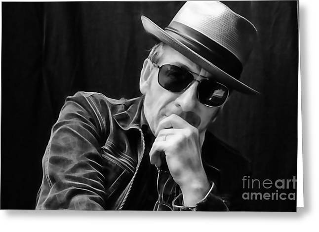 Recently Sold -  - Pop Mixed Media Greeting Cards - Elvis Costello Collection Greeting Card by Marvin Blaine