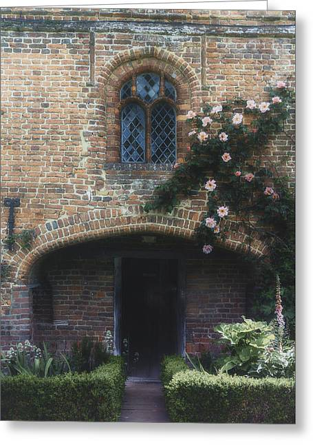 Entrance Door Photographs Greeting Cards - English cottage Greeting Card by Joana Kruse