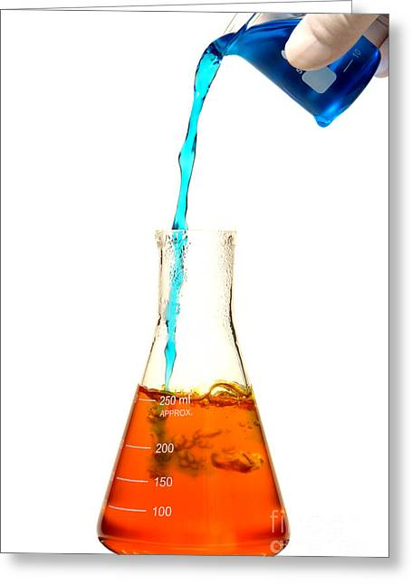 Lab Mix Greeting Cards - Experiment in Science Research Lab Greeting Card by Olivier Le Queinec