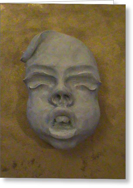 Sex Sculptures Greeting Cards - Face On The Mask Greeting Card by Alexander Almark