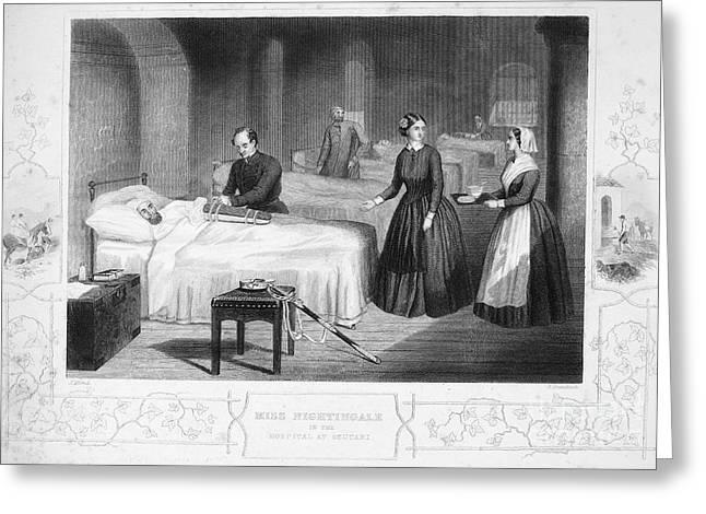 Philanthropist Greeting Cards - Florence Nightingale Greeting Card by Granger