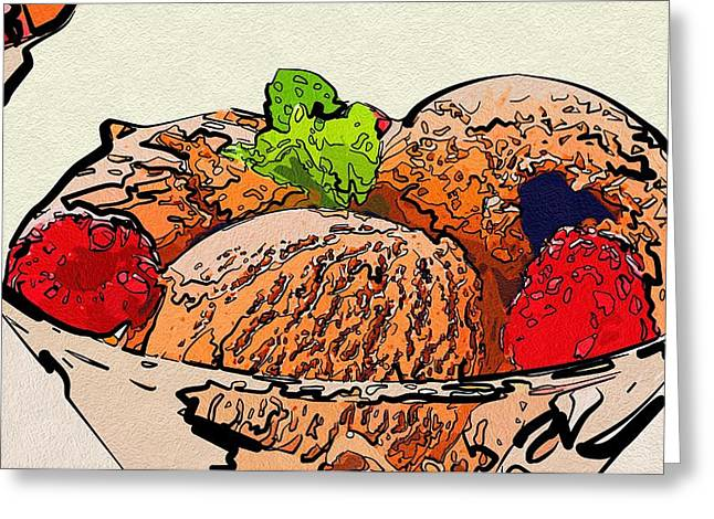 Local Food Digital Greeting Cards - For Food Greeting Card by Michael Vicin