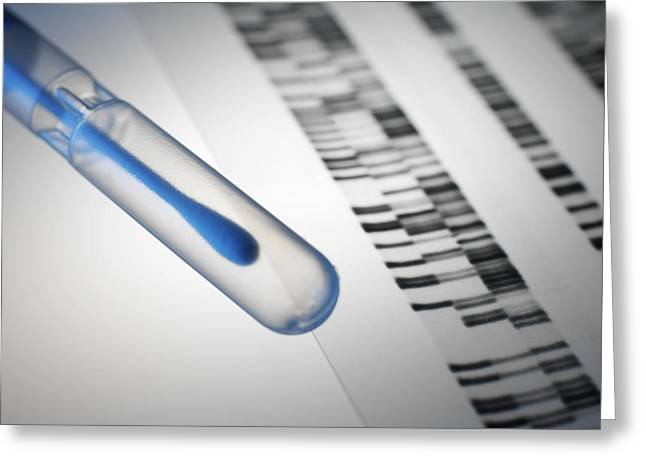 Result Greeting Cards - Genetic Testing Greeting Card by Tek Image