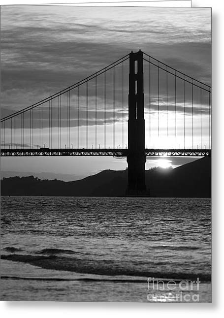 Surf Silhouette Digital Art Greeting Cards - Golden Gate Bridge in San Francisco Greeting Card by ELITE IMAGE photography By Chad McDermott