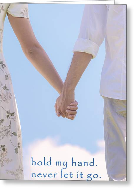 Couples Photographs Greeting Cards - Hand In Hand Greeting Card by Joana Kruse