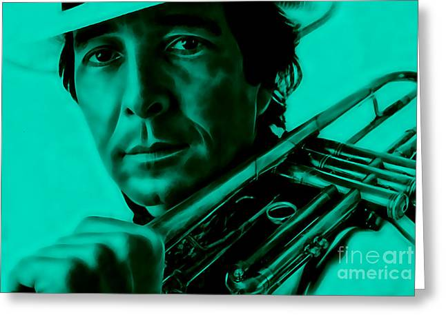 Trumpet Greeting Cards - Herb Alpert Collection Greeting Card by Marvin Blaine