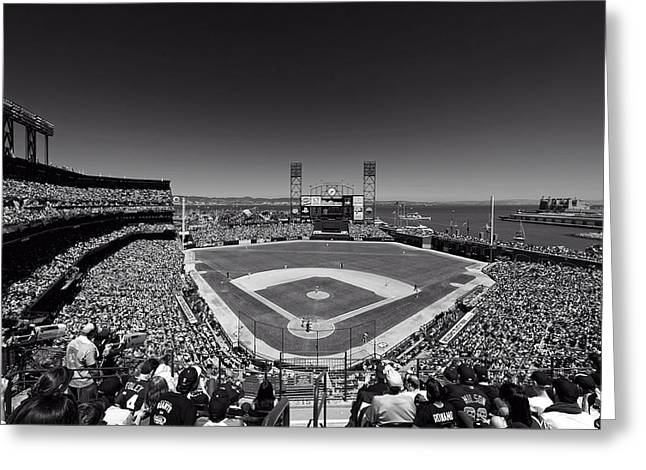 Park Scene Greeting Cards - Home Of The San Francisco Giants Greeting Card by Mountain Dreams