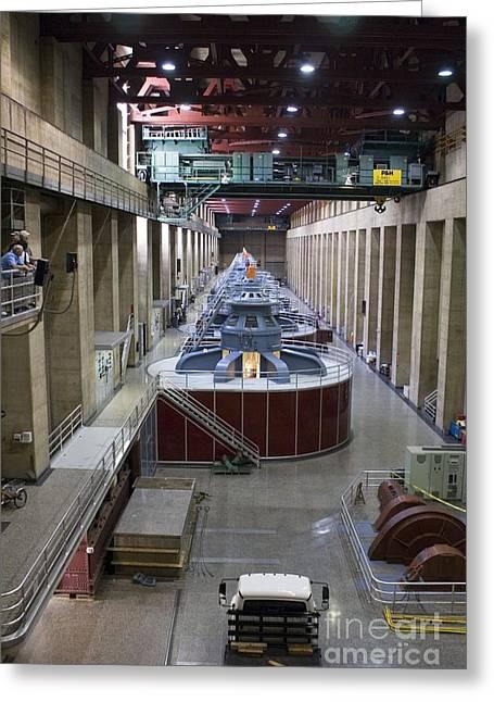 Generators Greeting Cards - Hoover Dam Generator Hall Greeting Card by Mark Williamson