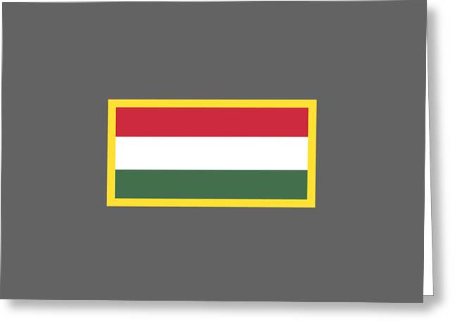 Europe Mixed Media Greeting Cards - Hungary Flag Greeting Card by Frederick Holiday