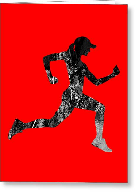 iRun Fitness Collection Greeting Card by Marvin Blaine