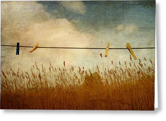 Summer Storm Greeting Cards - Landscape Greeting Card by Heike Hultsch