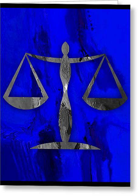 Balance Greeting Cards - Law Office Collection Greeting Card by Marvin Blaine