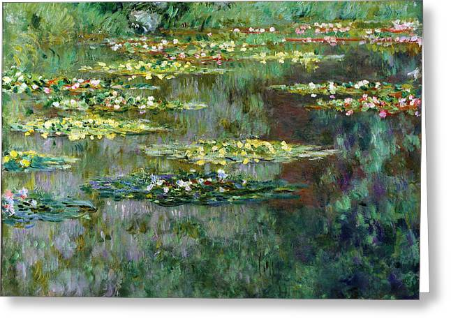 Bassin Greeting Cards - Le Bassin des Nympheas Greeting Card by Claude Monet
