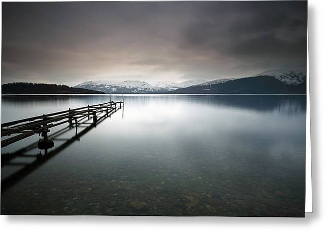 Minimalist Landscape Greeting Cards - Loch Lomond Greeting Card by Grant Glendinning