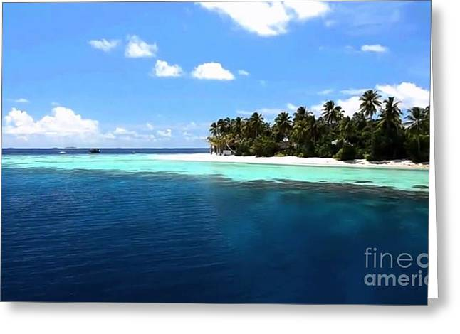 Landscape Framed Prints Greeting Cards - Maldive Islands a dream come true Greeting Card by Navin Joshi