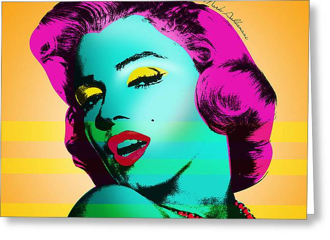 Womanly Greeting Cards - Marilyn Monroe Greeting Card by Mark Ashkenazi
