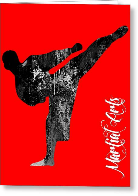 Martial Arts Greeting Cards - Martial Arts Collection Greeting Card by Marvin Blaine