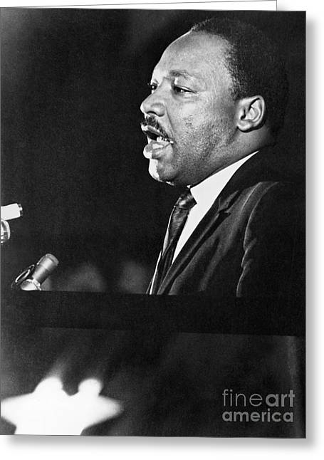 Civil Rights Activists Greeting Cards - Martin Luther King, Jr Greeting Card by Granger