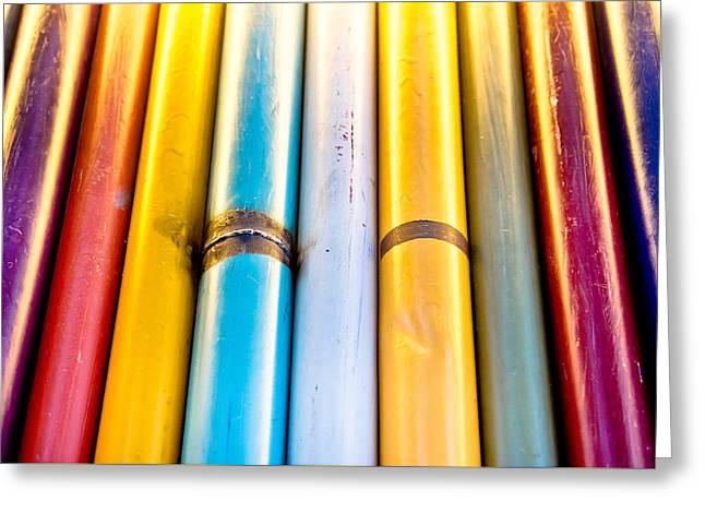 Spectrum Greeting Cards - Metal poles Greeting Card by Tom Gowanlock