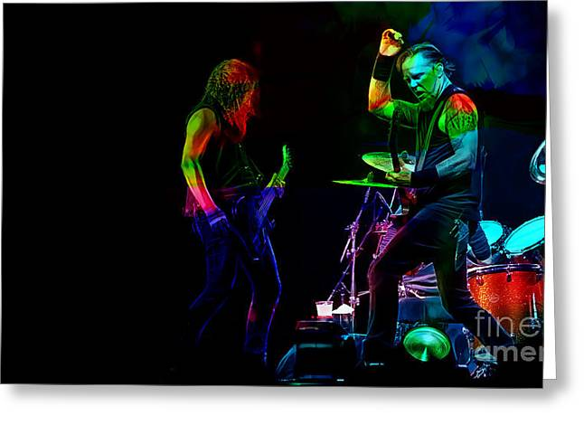 Metallica Collection Greeting Card by Marvin Blaine