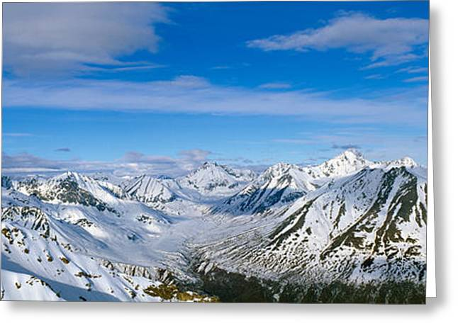 Mountains And Glaciers In Wrangell-st Greeting Card by Panoramic Images