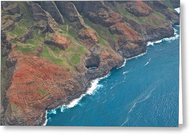 Hyatt Hotel Greeting Cards - Na Pali Coast Kauai Greeting Card by Steven Lapkin