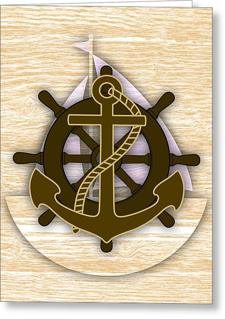 Sailboat Greeting Cards - Nautical Collection Greeting Card by Marvin Blaine