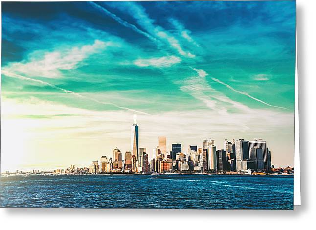 New York City Skyline Greeting Card by Vivienne Gucwa