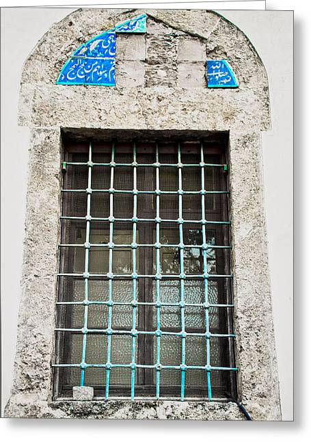 Ceramics Greeting Cards - Old window Greeting Card by Tom Gowanlock