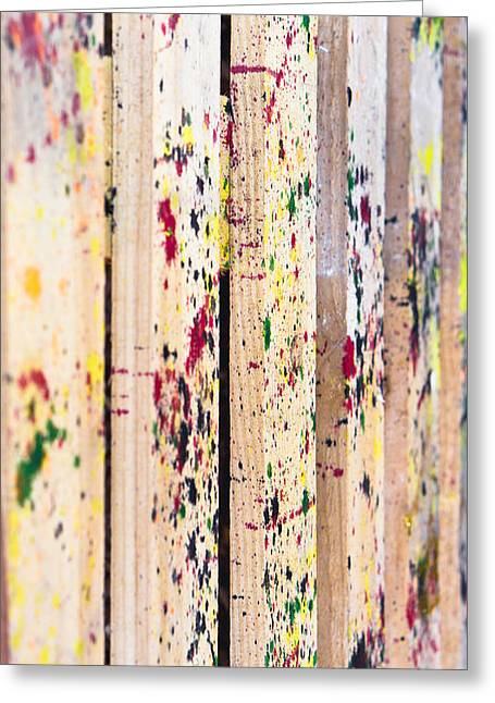 Irregular Greeting Cards - Paint marks Greeting Card by Tom Gowanlock