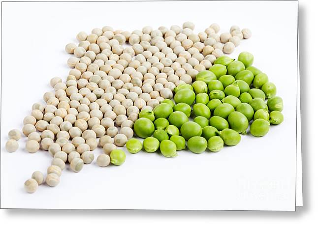 Peas Greeting Card by Nailia Schwarz