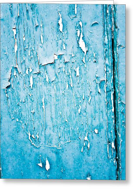 Painted Wood Greeting Cards - Peeling paint Greeting Card by Tom Gowanlock