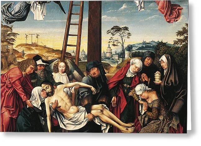 Pieta Greeting Card by Rogier van der Weyden