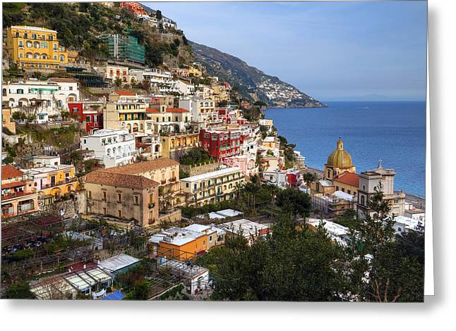 Med Greeting Cards - Positano - Amalfi Coast Greeting Card by Joana Kruse