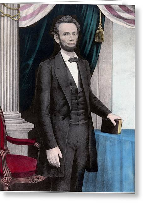 Proclamation Greeting Cards - President Abraham Lincoln Greeting Card by War Is Hell Store