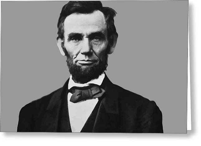 Rails Greeting Cards - President Lincoln Greeting Card by War Is Hell Store