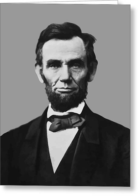 Proclamation Mixed Media Greeting Cards - President Lincoln Greeting Card by War Is Hell Store