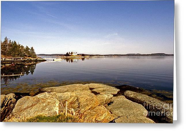 Ocean Art Photos Greeting Cards - Pumpkin Island Lighthouse Greeting Card by Skip Willits