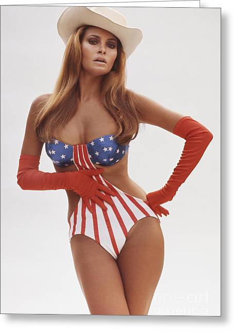 Personalities Photographs Greeting Cards - Raquel Welch Greeting Card by Terry O