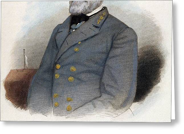 ROBERT E. LEE (1807-1870) Greeting Card by Granger