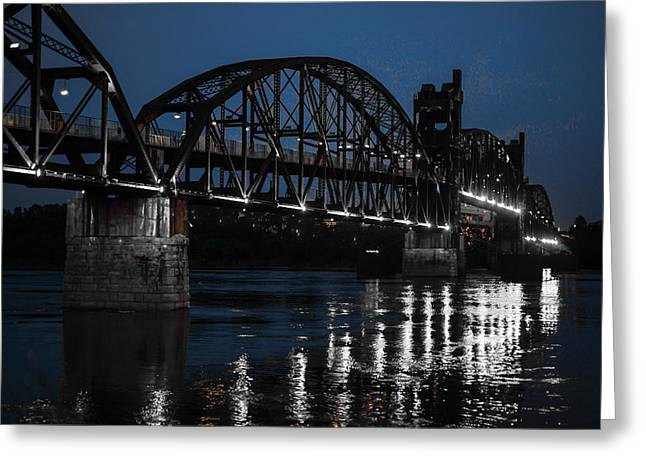 Famous Bridge Greeting Cards - Rock Island Bridge Arkinsas Greeting Card by Chris Smith