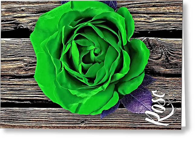 Rose Wood Collection Greeting Card by Marvin Blaine