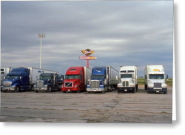 West Wing Greeting Cards - Route 66 - Dixie Truckers Home Greeting Card by Frank Romeo